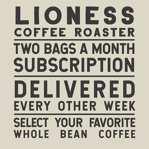 Two Bags a Month Coffee Subscription
