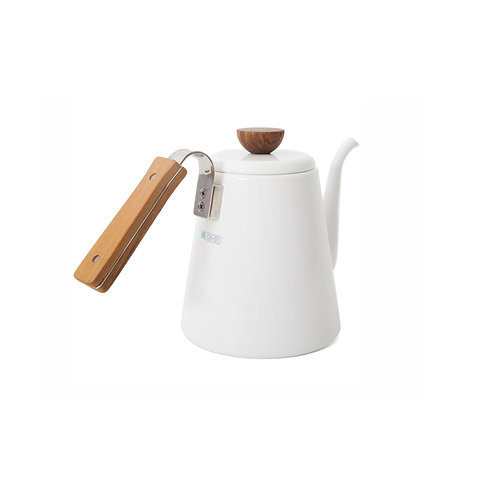 Hario Bona White Enamel Pouring Kettle