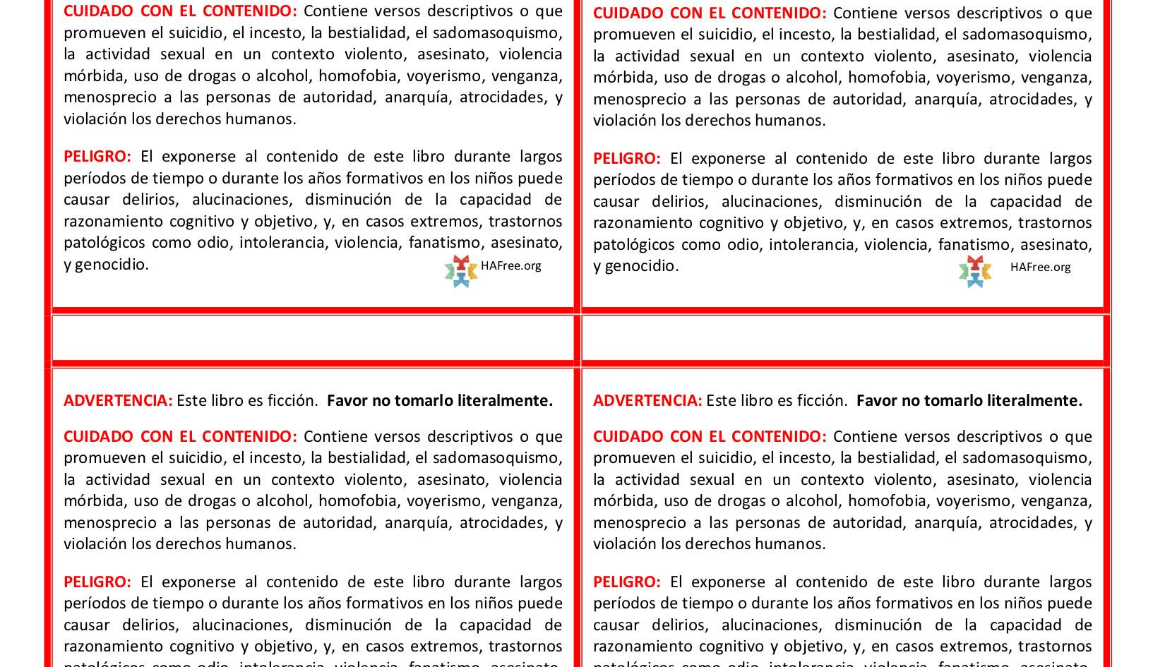 Bible WARNING-Spanish Avery 5168.jpg