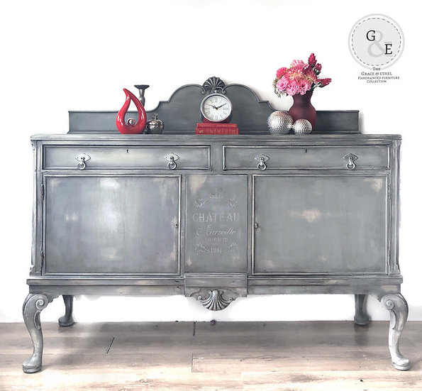 queen anne french style sideboard