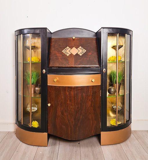 Harvey Art deco style Drinks cabinet and cocktail bar