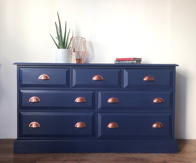 blue merchant chest of drawers