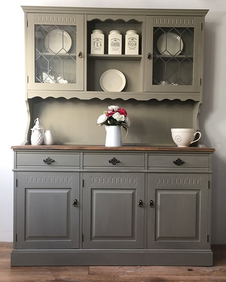 Sage green Farmhouse welshdresser