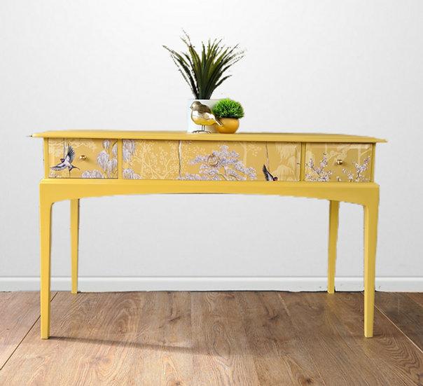 Stag console table, desk