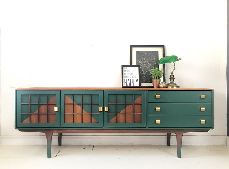 green mid century modern younger sideboard