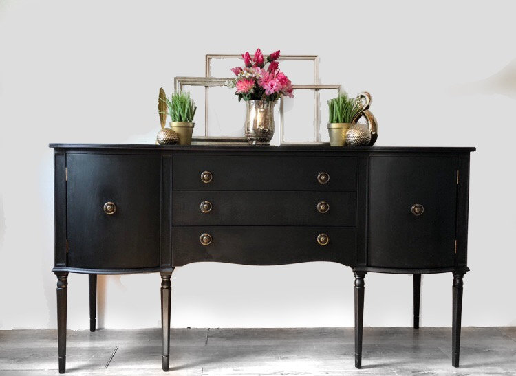 black serpentine sideboard
