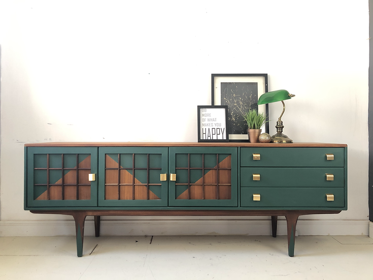 Mid century modern younger sideboard in green