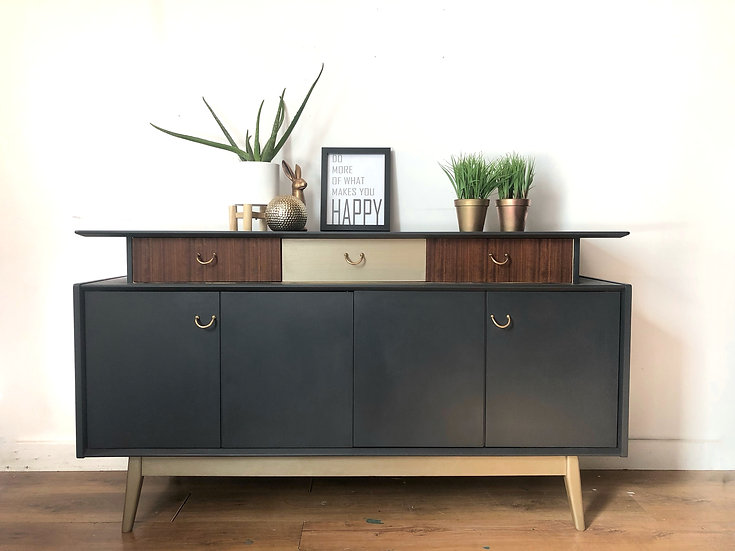dark grey gplan sideboard