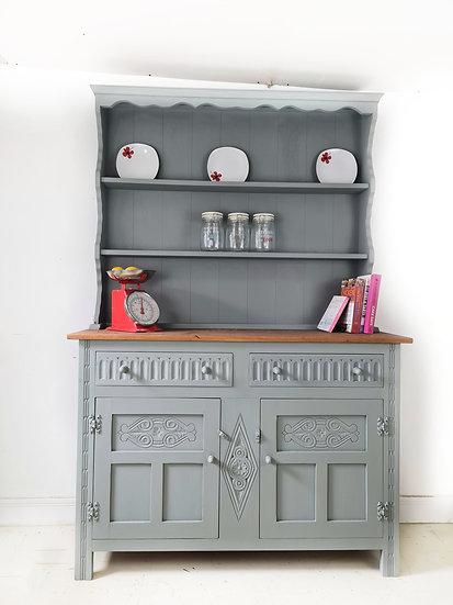 Old charm grey Welsh  dresser