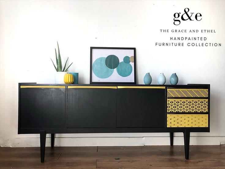 black and yellow mcintosh sideboard