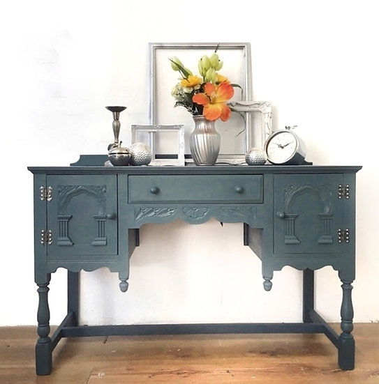 blue console table/sideboard