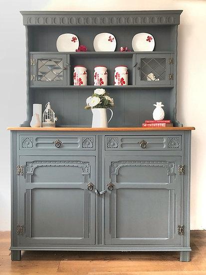 Grey farmhouse welsh dresser