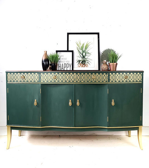 Green and gold strongbow sideboard