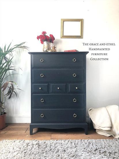 dark grey stag minstrel tallboy drawers