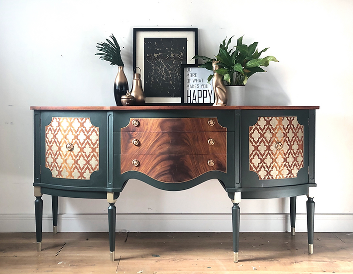 serpentine green sideboard