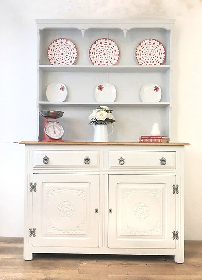 pale grey farmhouse welsh dresser