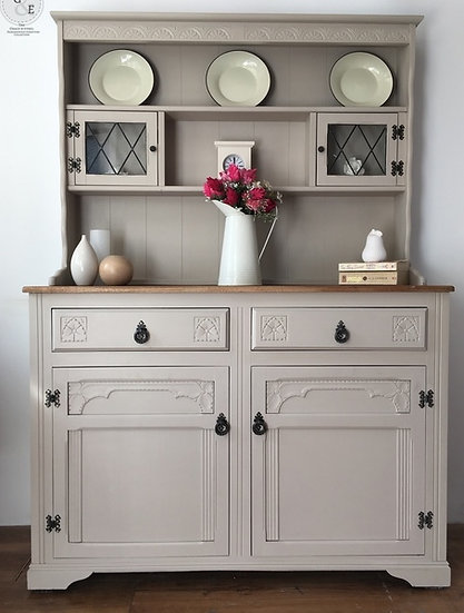 taupe farmhouse welsh dresser