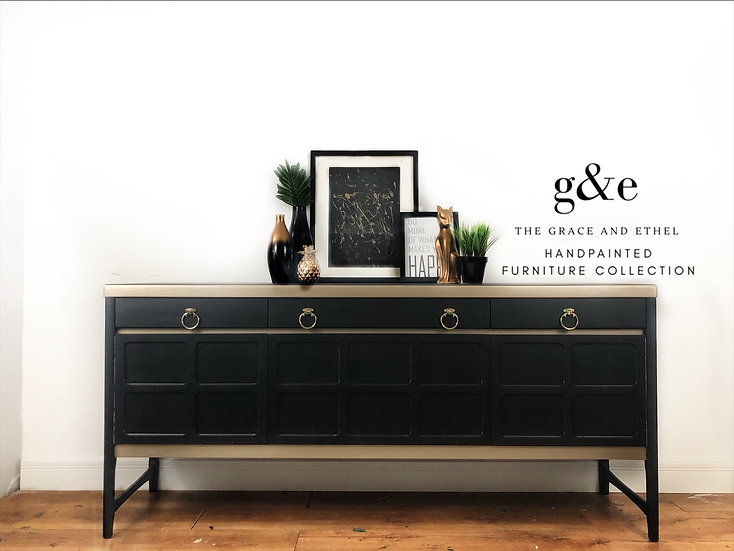 Black and gold nathan sideboard