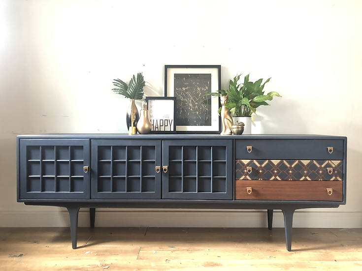 Navy blue younger sideboard