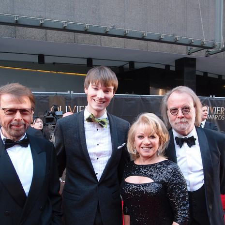 ABBA members Björn Ulvaeus & Benny Andersson with Elaine Paige & Richard Brownlie-Marshall
