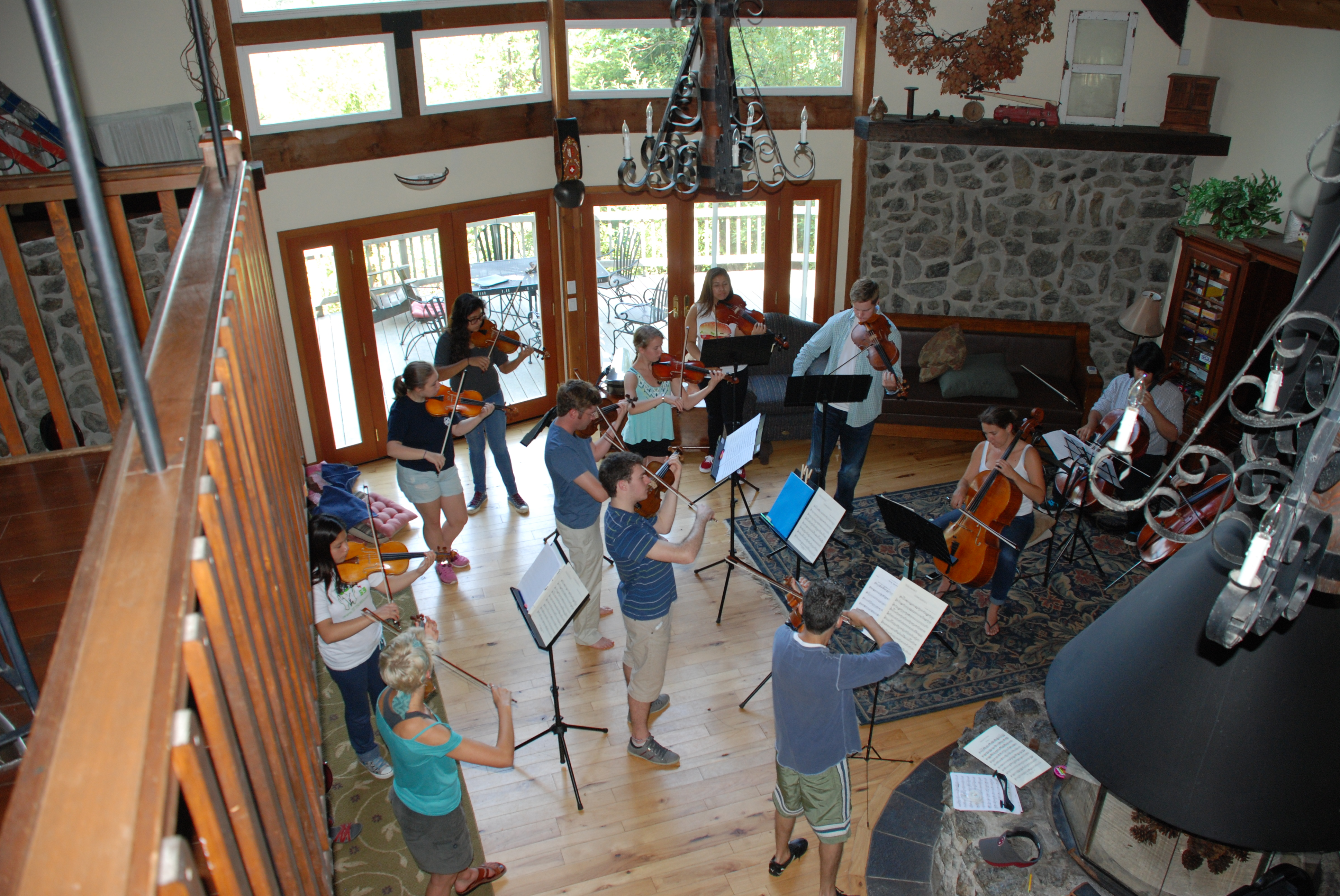 PCMF chamber orchestra rehearsal
