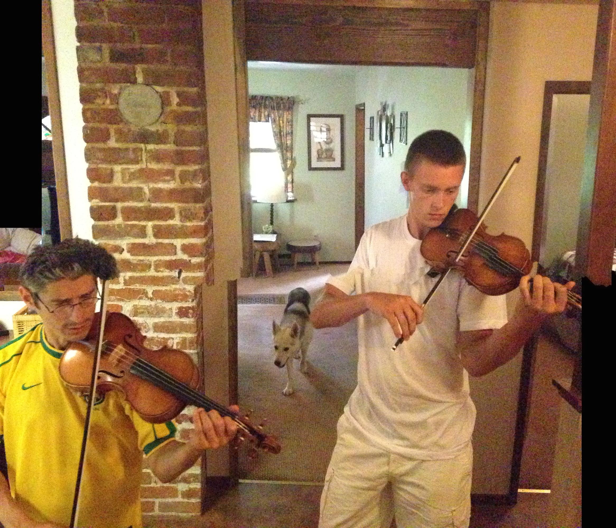 Quartet rehearsal