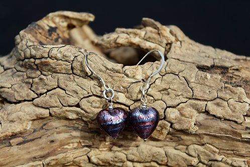 Murano Heart Earrings