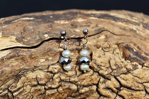 Swarovski And Pearl Earrings