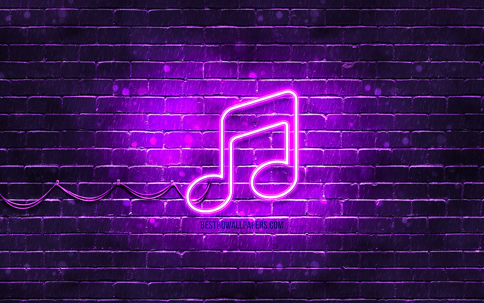 music-neon-icon-4k-violet-background-neo