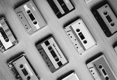 collection-of-retro-music-audio-cassette