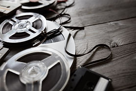 old-audio-reels-and-cassette-tape-backgr