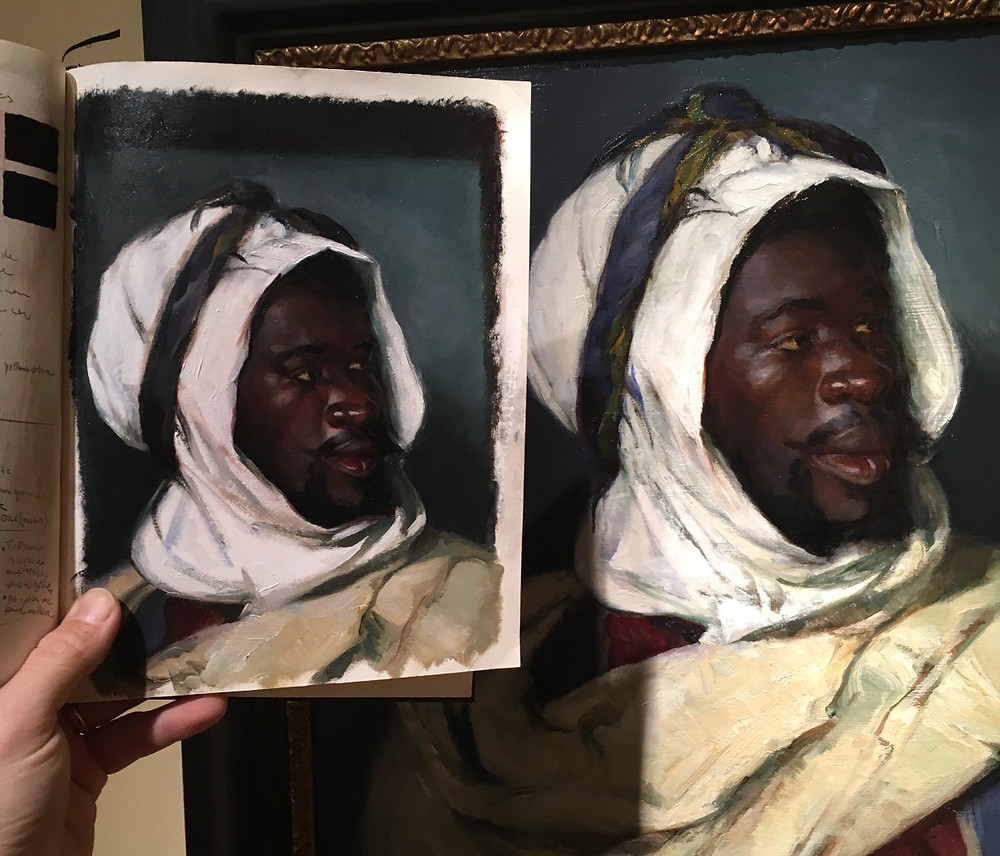 """Here is a master copy from the original painting """"Head of an Algerian"""" by Elizabeth Nourse at the New Britain Museum of American Art in CT."""
