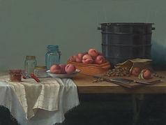 Peach Jam Workshop 36x48 Oil on Canvas.j