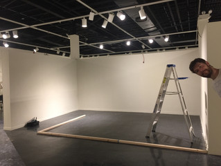 Behind the scenes, MFA Art Show - Spring 2018