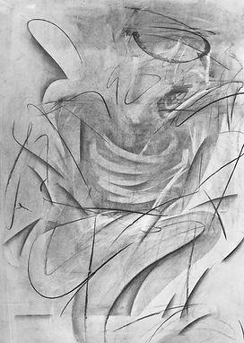Broken Angel / Charcoal on paper / 105 x 75 cm / 2019
