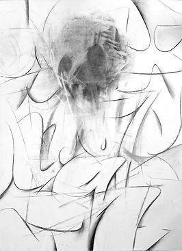 Jigsaw / Charcoal on paper / 95 x 70 cm / 2019