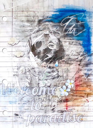 Broken Dream / Mixed media on paper / 118 x 84 cm / 2019