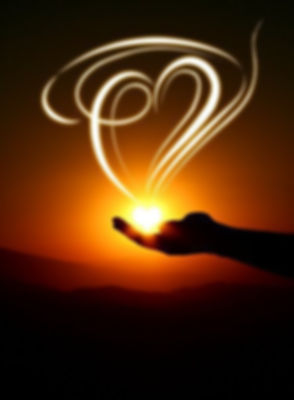 Quote the light of love love-heart-light