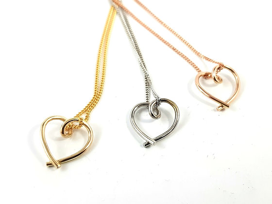 9ct Gold Heart Pendants from