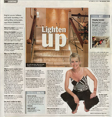 The Project, Paula Robinson Rossouw's Sunday Times column: Lighten Up. Stone staircase with uplights