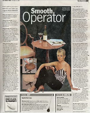 The Project, Paula Robinson Rossouw's Sunday Times column: Smooth Operator.wine table