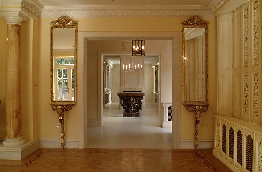 French elegance. Period decorating. Parisian interiors. Enfilade. Luxurious French living. Living Parisian style. Serene interiors.