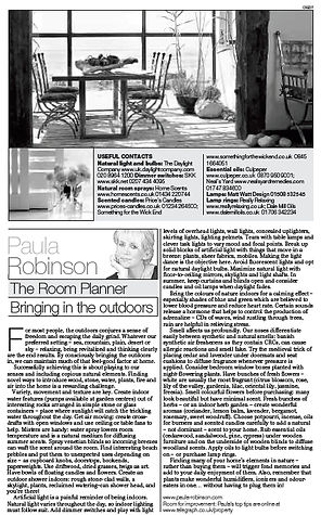 The Room Planner, Paula Robinson Rossouw's Sunday Telegraph column: Bringing in the outdoors. Dining table with contemporary picture window
