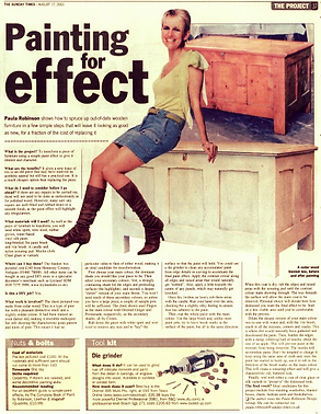 The Project, Paula Robinson Rossouw's Sunday Times column: Painting for effect. Vintage wooden chest