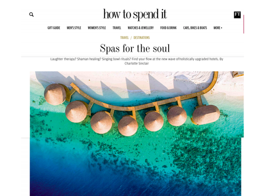 How to Spend It, Spas for the Soul