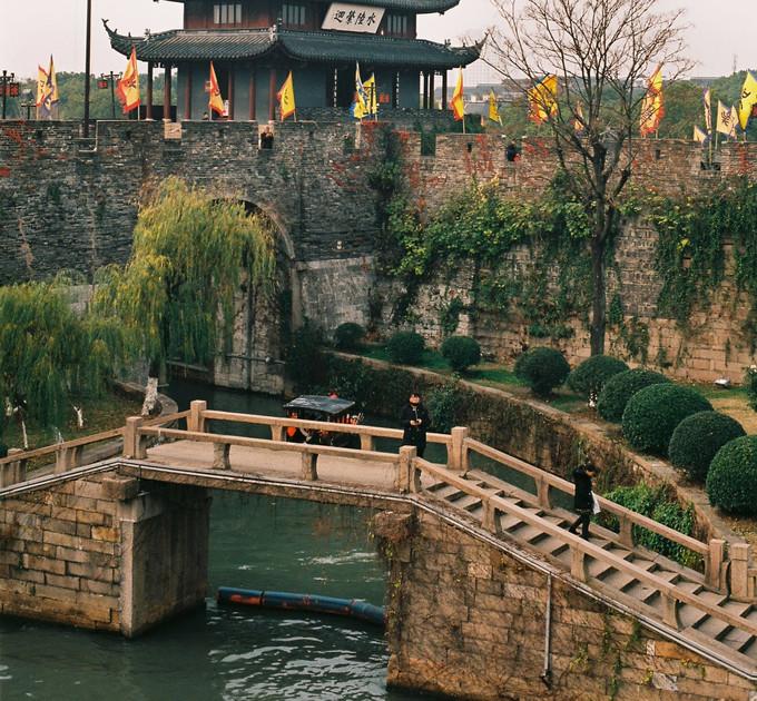 old suzhou city wall, china - dec 2019
