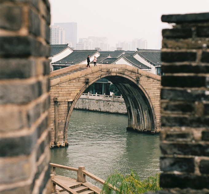 old suzhou city walls, china - dec 2019