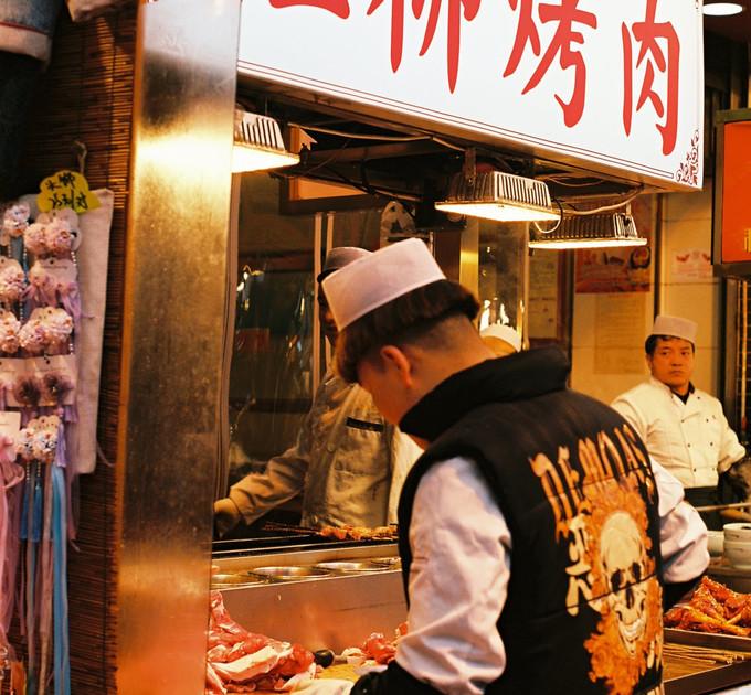 suzhou street food vendor, china - dec 2019