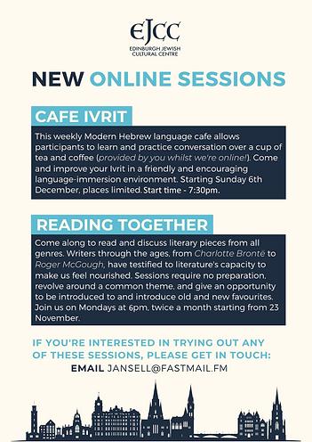Cafe Ivrit and Reading Together Dec 2020