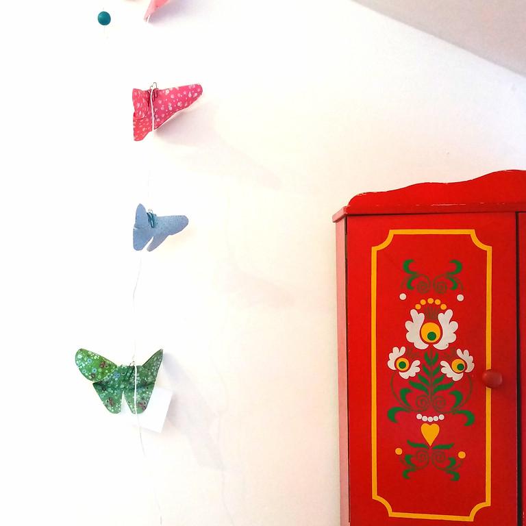 Atelier - ORIGAMI - Guirlande de papillon